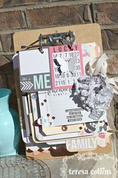A few of my favorite things.... clipboards.... love the layering... love creating photo displays that stand up.