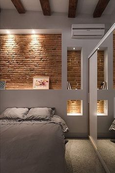 Lighting along the brick wall is always desirable because it throws the emphasis on the wall and brings it to the forefront.