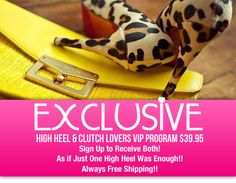 As If One High Heel is enough! (Laughing) Introducing www.ClassyChickClothingOnline.com   EXCLUSIVE! High Heel & Clutch Handbag VIP Program… For More Information Check Out The Section: http://www.classychickclothingonline.com/vip-shoes/