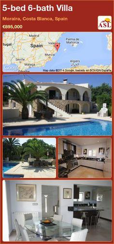 5-bed 6-bath Villa in Moraira, Costa Blanca, Spain ►€895,000 #PropertyForSaleInSpain