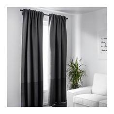 IKEA - MARJUN, Tenda oscurante, 2 teli, , Le tende evitano che la maggior parte della luce entri e impediscono di vedere all
