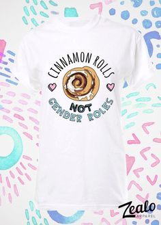 Zimtschnecken, Gender nicht-Rollen-t-Shirt. Feministische Feminismus Gleichheit androgynen LGBT Tshirt Shirt Unisex Frauen macht Tumblr Tees Top t Shirt T
