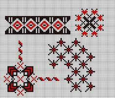 Romanian cross stitch pattern can use on plastic canvas Palestinian Embroidery, Hungarian Embroidery, Folk Embroidery, Cross Stitch Embroidery, Embroidery Patterns, Cross Stitch Bookmarks, Cross Stitch Borders, Cross Stitch Designs, Cross Stitching