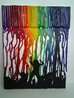 melted crayon/silhouette