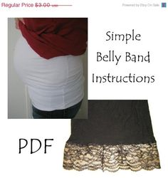 PATTERN Belly Band Sewing