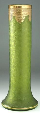c.1900 Glass Vase, Baccarat or St. Louis