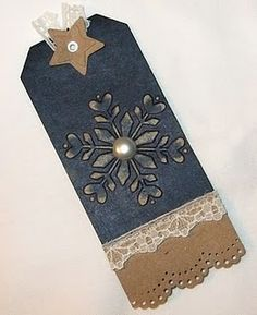 embossed christmas tag