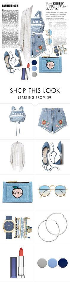 """Denim For Spring"" by chikazalea ❤ liked on Polyvore featuring Dodo Bar Or, House of Holland, Paychi Guh, Gap, Skinnydip, Mixit, Melissa Odabash, Maybelline and Burberry"