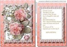 Sister Topper With incert and Verse  on Craftsuprint - Add To Basket!