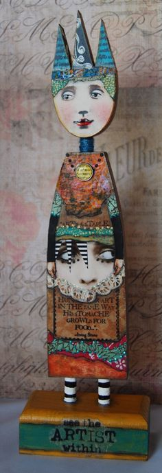 Altered Art Doll  The Artist Within by desertdreamstudios on Etsy                                                                                                                                                                                 More