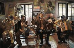 Jazz Orchestra Poster By Guido Borelli