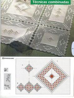 Learn to Crochet – Crochet Wave Fan Edging. Crochet Fabric, Crochet Quilt, Filet Crochet, Crochet Flowers, Diy Crafts Crochet, Crochet Home, Hand Crochet, Knit Crochet, Tablecloth Fabric