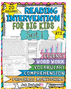 Reading Intervention Program for Big Kids - Out of this World Literacy