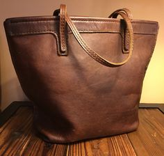 Market bag A leather tote for all seasons by SchertzerHouseGoods