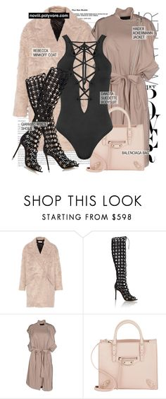 """""""Untitled #1202"""" by noviii ❤ liked on Polyvore featuring Børn, Rebecca Minkoff, Gianvito Rossi, Haider Ackermann, Balenciaga and WearAll"""