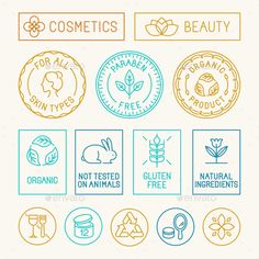 Natural Cosmetics Badges Template EPS, AI #design Download: http://graphicriver.net/item/natural-cosmetics-badges/13740023?ref=ksioks