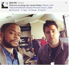 Dulé Hill AND James Roday. Because it's a package deal. Psych Memes, Psych Quotes, Psych Tv, Psych Cast, Real Detective, Psychology Jokes, James Roday, Shawn Spencer, Agree To Disagree
