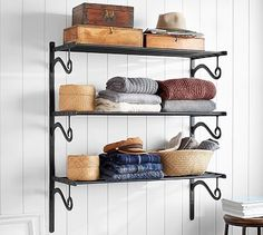 Railway Closet Triple Shelf #potterybarn #mypotterybarn