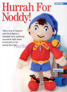 noddy toy dk knitting pattern 99p by Heritageknitting1 on Etsy