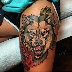 "Sharon on Instagram: ""Tattoo work by: @grant_tattoos!!!) #supportgoodtattooing #support_good_tattooing #supportgoodtattooers #support_good_tattooers #supportgoodtattoos #support_good_tattoos #sharonalday #sharon_alday #sharonallday #sharon_allday #tattoosalday #tattoos_alday #tattoosallday #tattoos_allday #tattoo #tattoos #tattooed #tattoolife #tattooedlife #tattoocommunity #tattooedcommunity #ink #inked #inkedup #inkedlife #bodyart #tattooart #wolf #roses"""