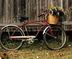 Bikes with wicker baskets and flowers kick butt.