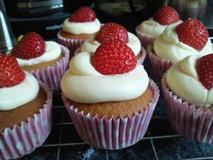 Made by Kirsteen Murray - #glutenfree #strawberrycupcakes with #strawberry puree in the #cupcake mix! #dairyfree #gf #glutenfreecake #coeliac #celiac #glutenfreeliving #zeroglutenbaker #wheatfree #glutenfreelife #glutenfreebaking #glutenfreefood #freefrom