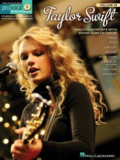 Taylor Swift: Pro Vocal Women's Edition Volume 49 (Hal Leonard Pro Vocal (Numbered)) by Taylor Swift http://www.amazon.com/dp/1423478592/ref=cm_sw_r_pi_dp_O9Rnub08NMHD6