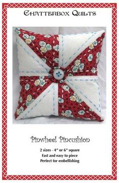 This cute pincushion is the perfect sewing project to embellish. The pattern…