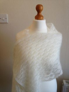 Mohair and Silk Lace Wedding Shawl, Knitted Wedding Wrap Holiday Clothes, Holiday Outfits, Wedding Wraps, Lace Wedding, Winter Wedding Shawl, Knitted Shawls, Winter White, Scarfs, Photo Sessions