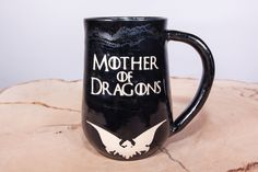 Game of Thrones Mother of Dragons handmade pottery mug