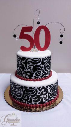 Happy 50th Birthday Cake.