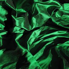 HA 77 Parrot Green Indian Silk Dupion - off the roll