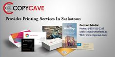 Copycave provides printing services in Saskatoon such as Custom Printing for companies and handle projects of all sizes in Canada.  #PrintingSaskatoon