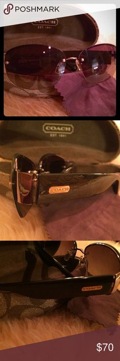COACH Women's Sunglasses Winifred S349 Taupe 😎 COACH Women's Sunglasses Winifred S349 Taupe. NO scratches or discoloration to the sunglasses or to the case. I think I must've worn these sunglasses once! Offers are welcome but I can't go too low because Posh charges a high fee. Let's bundle.. thanks for all the shares!! 😍😍 Coach Accessories Sunglasses
