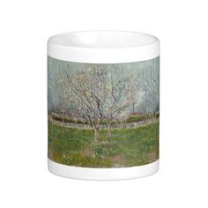 Orchard in Blossom Plum Trees by Vincent Van Gogh Coffee Mugs