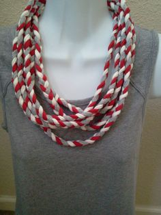 T Shirt Braided Necklace Lariat Eternity by LonestarFashions, $15.00