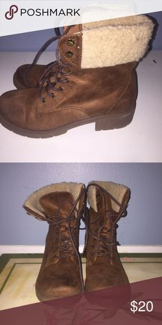 Mossimo boots Mossimo faux fur boots great condition Mossimo Supply Co. Shoes Combat & Moto Boots