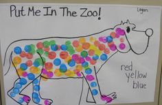 So fun to dot paint after reading Put Me in the Zoo by Dr. Seuss