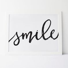 Printable Art Smile Cursive Smile Wall Art Wall Prints Calligraphy Print Calligraphy Art Smile Print Smile Art Gallery Wall Art Wall Decor These files are ready to download immediately! So theres no need to wait for shipping! All files are available once your payment has cleared. That means you save time and money on shipping! ❤ To have this and other prints printed and shipped visit: https://www.etsy.com/ca/shop/elemenopeedesign?section_id=17109875&ref=shopsection_leftnav_8 ❤ INSTANT…