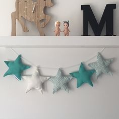 I sent this turquoise/mint star garland down to @commongroundhome earlier today #commongroundhome #littlebambinobear #stargarland #wabusinessdirectory #nurserydecor #kidsdecor #wamade #australianmade