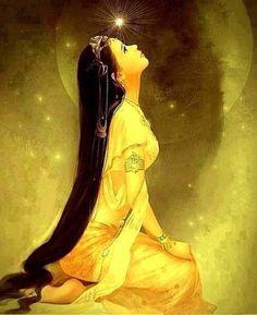 Women of Fantasy Chinese Painting, Chinese Art, Art Chinois, Asian Art, Japanese Art, Amazing Art, Fantasy Art, Art Photography, Decoupage