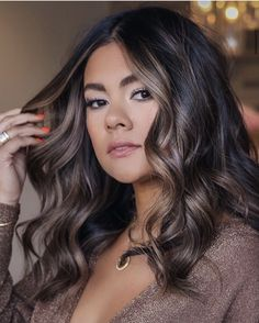 Hair Color Shades, Hair Color And Cut, Cool Hair Color, Brown Hair Colors, Balayage Hair Caramel, Brown Hair Balayage, Hair Due, Glamorous Hair, Beautiful Hair Color