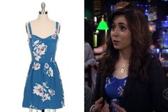Cristin Milioti's Blue Floral Day Dress on 'How I Met Your Mother' - TV Fashion Roundup: March 31, 2014 - Photos