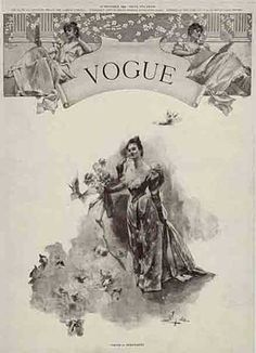 The very first cover of Vogue published in December, 1892
