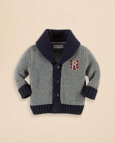 Ralph Lauren Childrenswear Infant Boys' Shawl Collar Cardigan Sweater - Sizes 3-9 Months | Bloomingdale's
