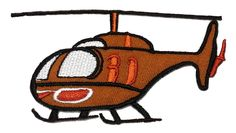 Brown Helicopter DIY Applique Embroidered Sew Iron on Patch -- For more information, visit image link.