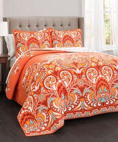 Orange Clara Quilt Set