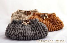crochelinhasagulhas: Catarina Mina e bolsas de crochê