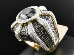 Details about  / 2.50 CT Men's Yellow Gold Finish Pave Diamond Engagement Wedding Pinky Ring