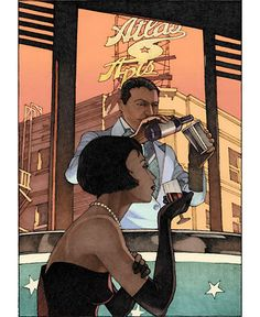 Cafe Inevitable (Search results for: miles hyman) Illustrators, Retro Poster, Art Painting Oil, Artist At Work, Graphic Novel Art, Animation Sketches, Visual Art, Art, Art Pictures